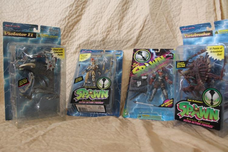 Lot of 4 Spawn action figures
