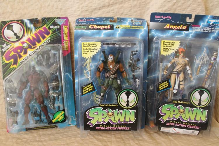 Lot of 3 Spawn action figures