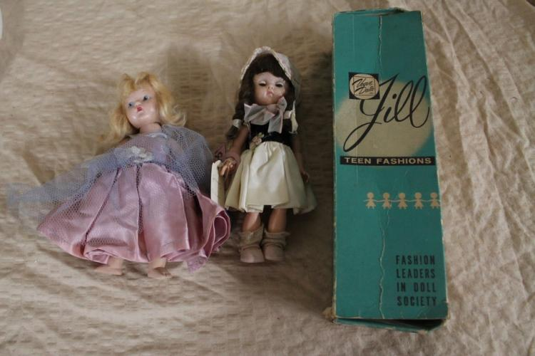 Lot of 3 1940's-1950's dolls