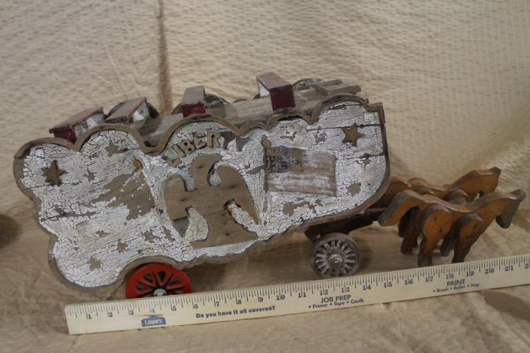 Antique wooden american wagon
