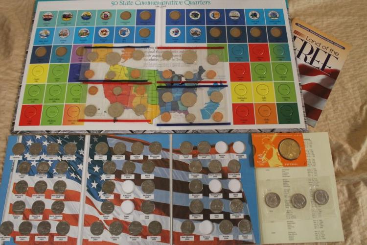 Lot of collectors quarters, dollar coins, and proof sets