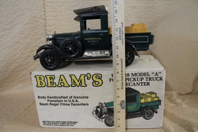 Jim beam pick up truck decanter