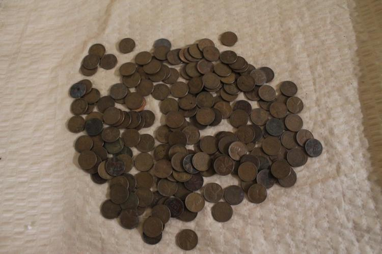 Lot of wheat pennies