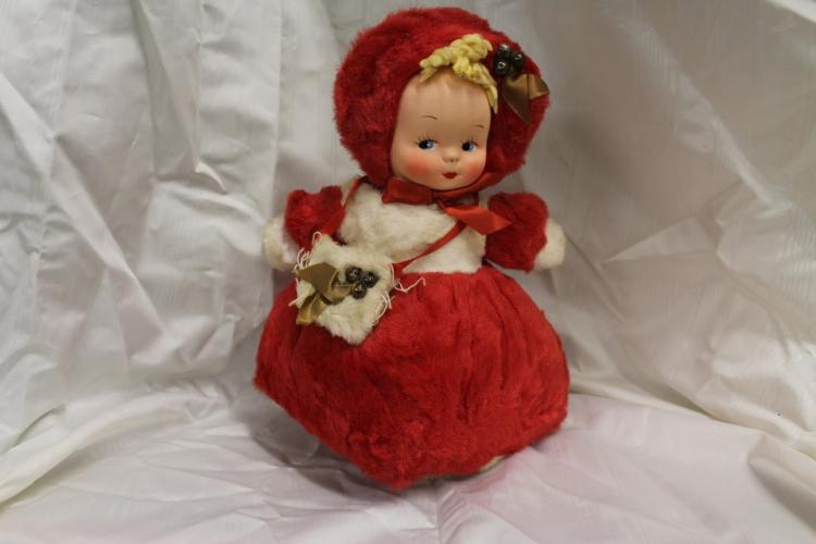 Goebel doll in red hooded dress
