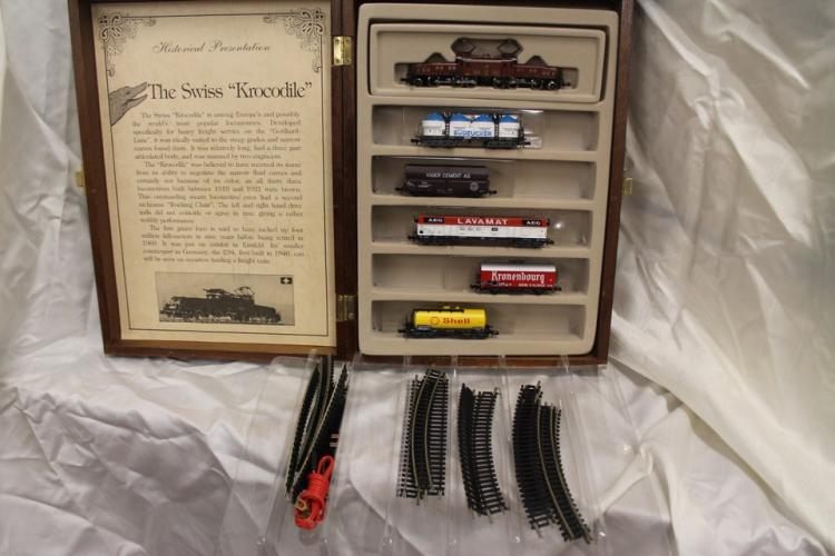 Lot of model trains by Minitrix: The Krockidile