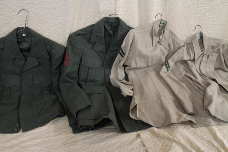 Lot of military clothing