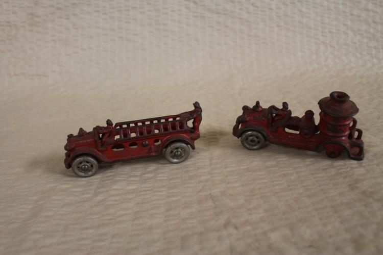 Late 1800's-early 1900's cast iron firetrucks