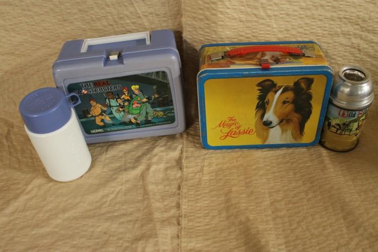 Lassie and Ghostbuster lunch boxes