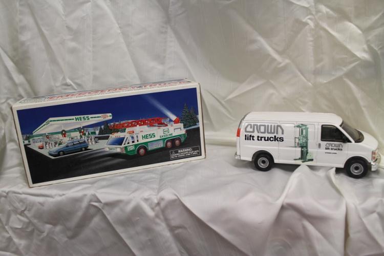 Hess emergency truck and Crown Lift trucks van