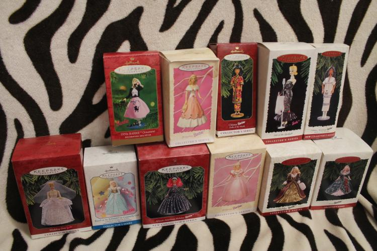 Huge Barbie Hallmark lot