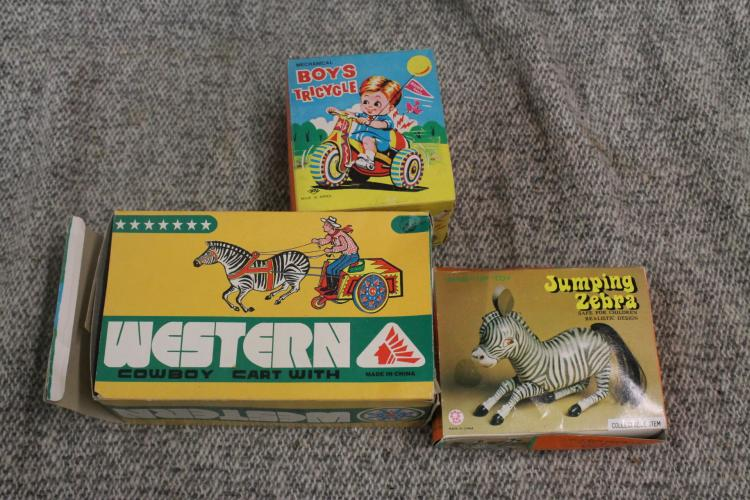 New old stock cowboy, zebra, and child