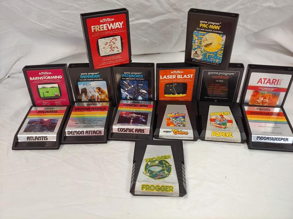 Grouping of 15 Vintage Cartridge Games