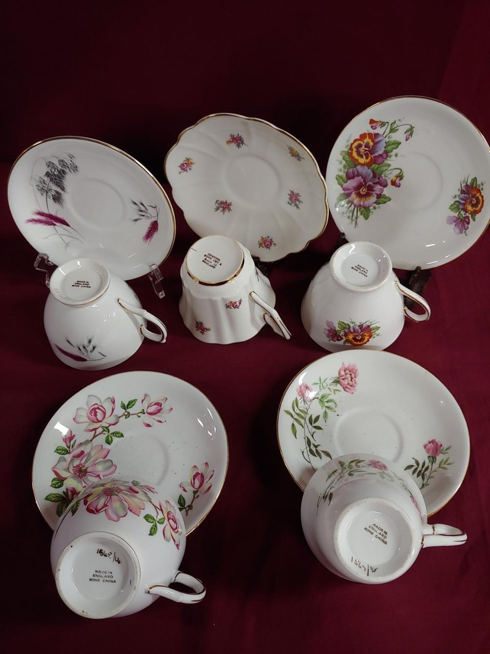 Collection of 15 Teacup and Saucer Sets