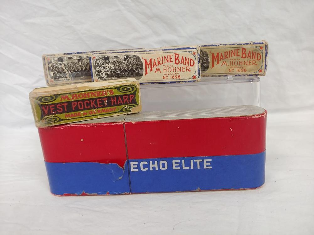 Collection of Hohner Harmonicas