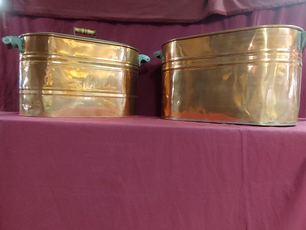 Set of 2 Copper Tubs