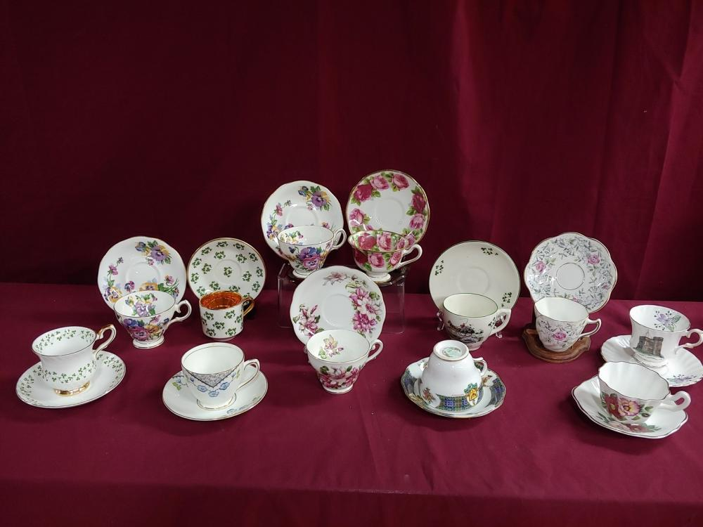 Collection of Twelve Teacup and Saucer sets