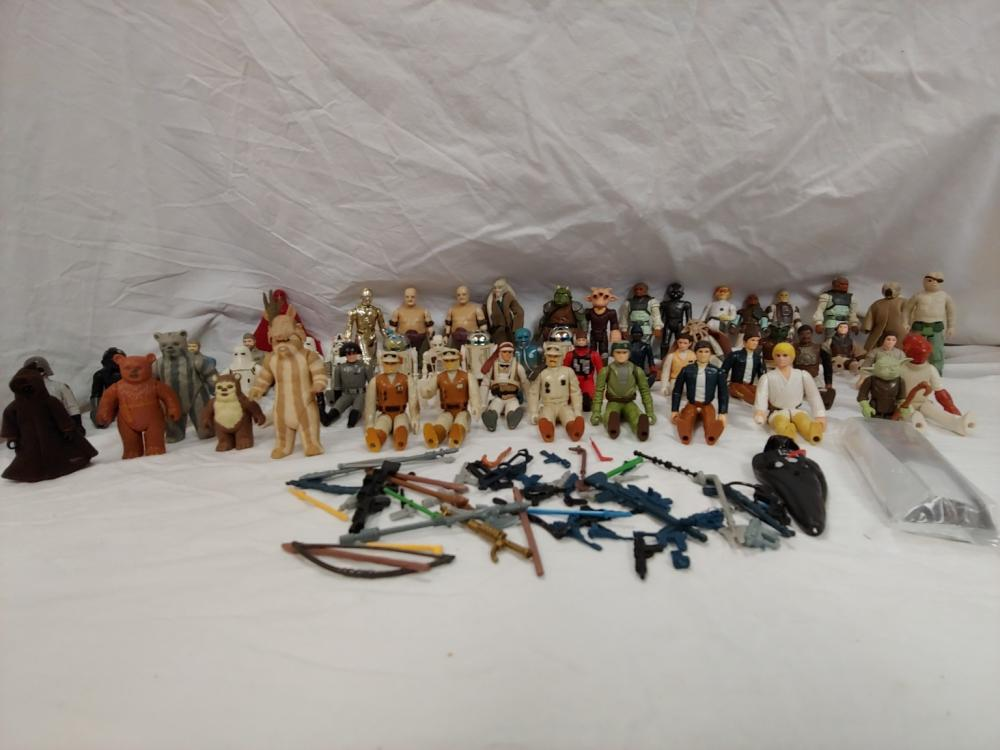 Large Star Wars Action Figure Collection
