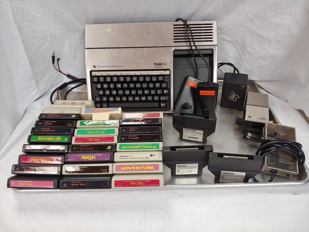 TI-99/4A Computer Lot with dozens of games and programs