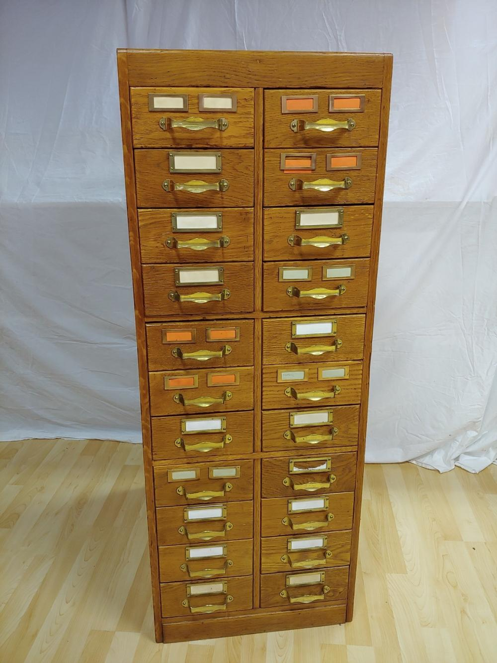 Wooden Bank of Drawers