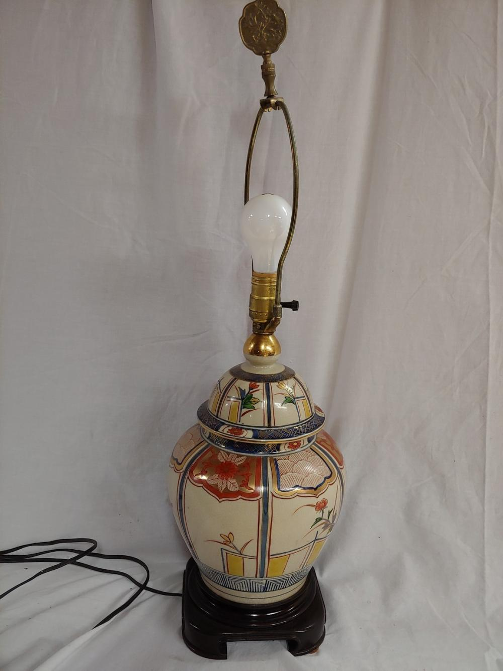 Floral Painted Lamp