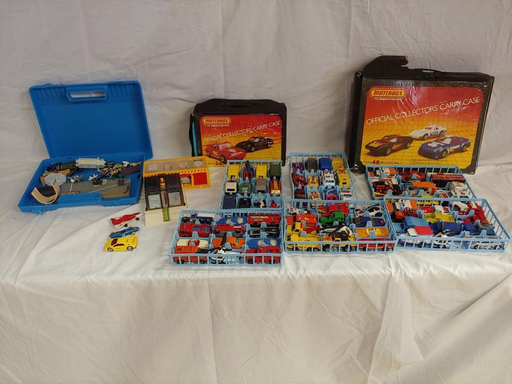 Collection of Matchbox Cars w/ Cases