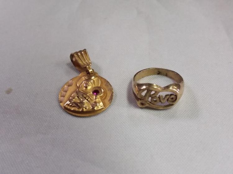 10k Gold religious lot