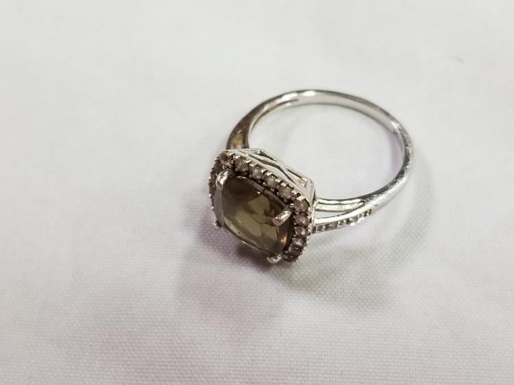 10k White gold ring