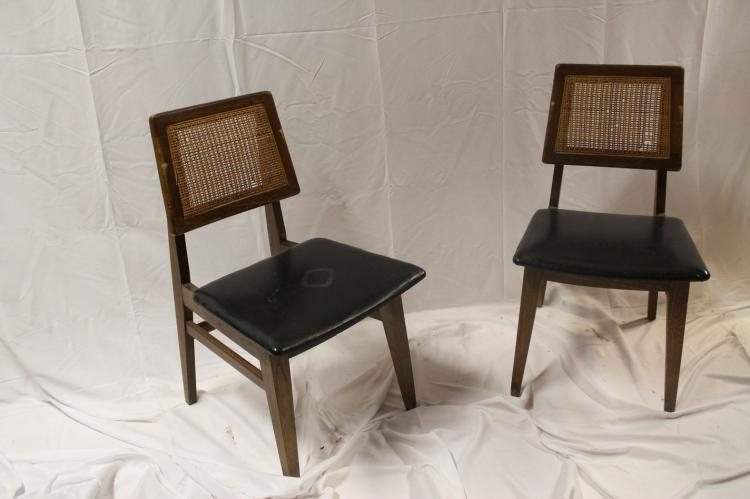 Pair Of Mid Century Modern Cane Back Chairs