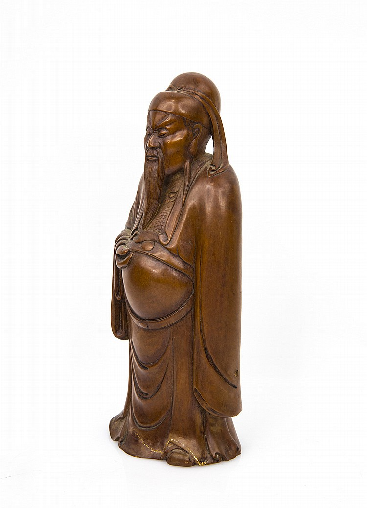 A carved boxwood figure