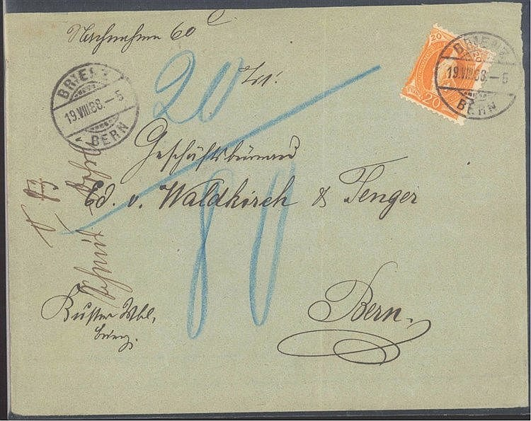 SCHWEIZ 1888, Geschichte,, Heraldik, WALDKIRCH