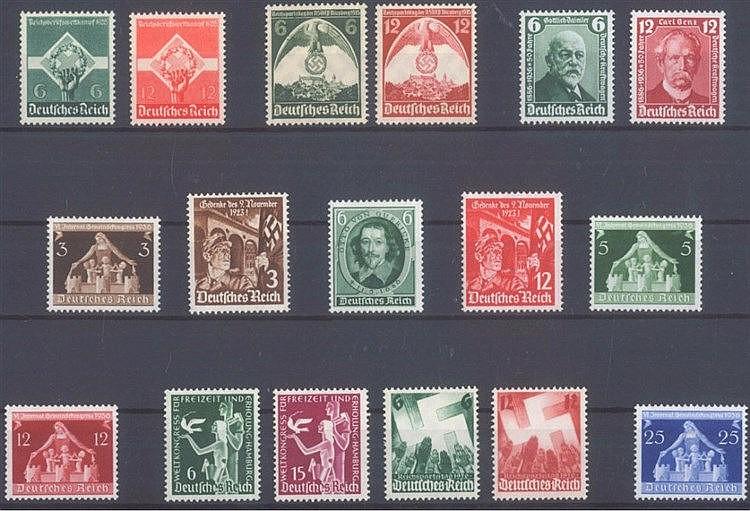 1935/36 DEUTSCHES REICH, postfrisches Lot mit Michelnummern