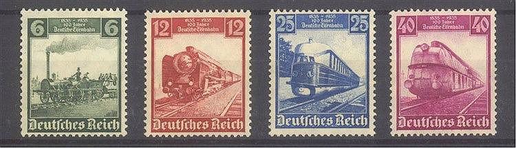 1935 DEUTSCHES REICH, 100 Jahre Deutsche Eisenbahn