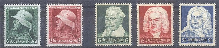 1935 DEUTSCHES REICH,Heldengedenkjahr und Schütz Bach Händel