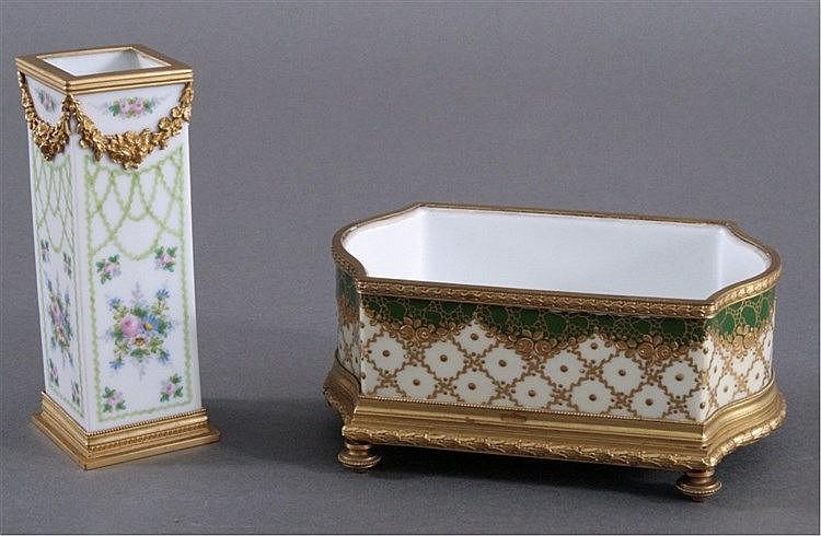 Vase und Schale. Porzellanmanufktur Stulz AG in Straßburg
