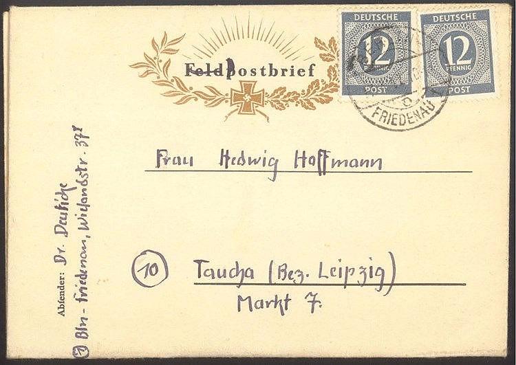 1947 FELDPOST III. REICH, interessante Bedarfsgeschichte!!!!