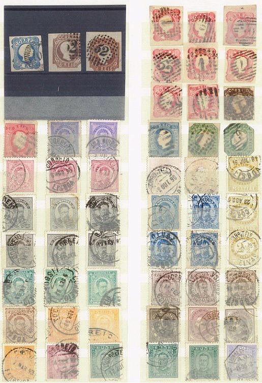 PORTUGAL 1856-1917, kleine Sammlung von 164 Werten