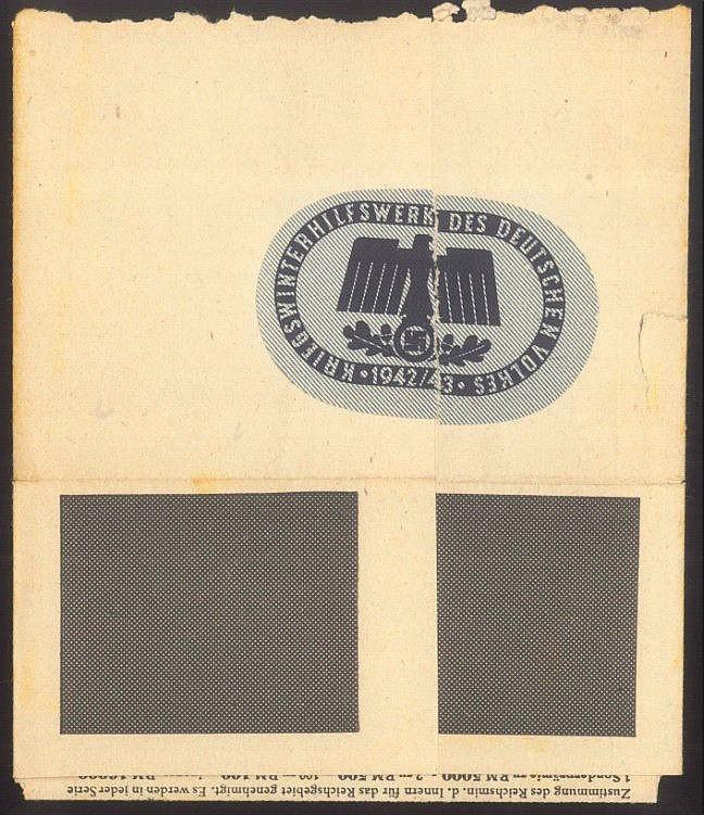 III. REICH, GELD-LOTTERIE für Kriegswinterhilfswerk 1942/43