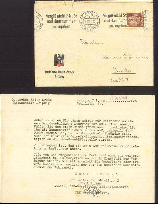 III. REICH, DEUTSCHES ROTES KREUZ 1939
