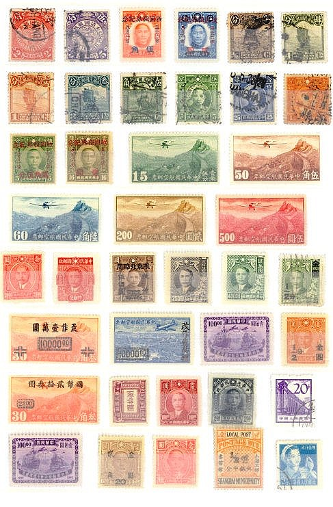 VOLKSREPUBLIK CHINA , Partie Briefmarken mit Altchina,...