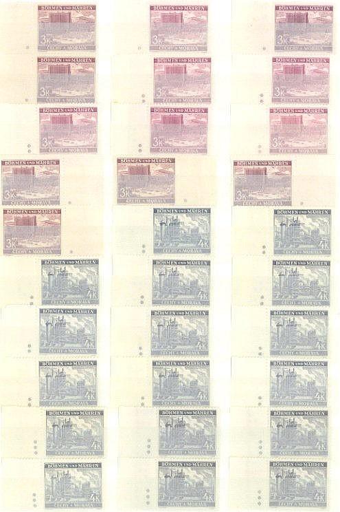 BÖHMEN und MÄHREN 1939-1942, Speziallos 'Plattensternchen'