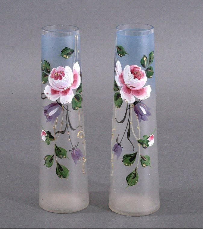 Zwei Glasvasen, Jugendstil