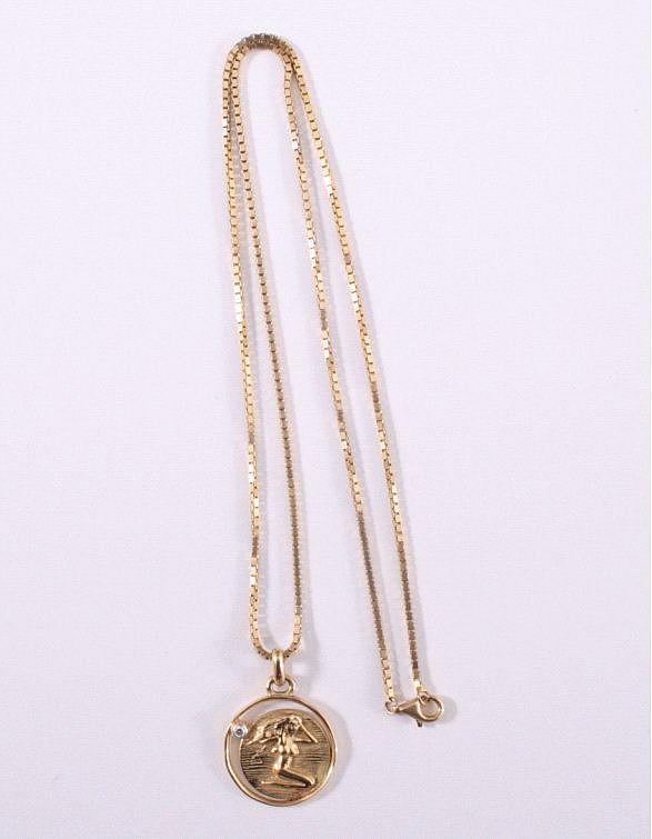 Halskette mit Sternzeichenanhänger 'Jungfrau' 585/000 GG