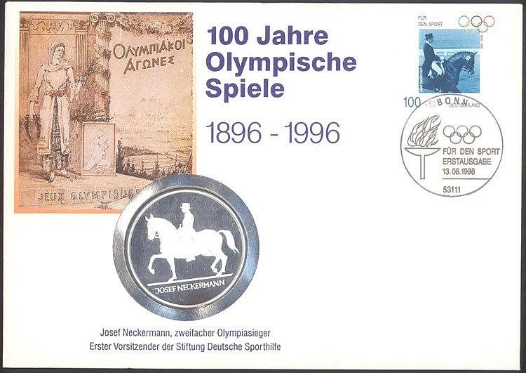 Numisbrief 100 Jahre Olympische Spiele