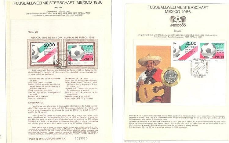MOTIV FUSBALLWELTMEISTERSCHAFT MEXIKO 1986