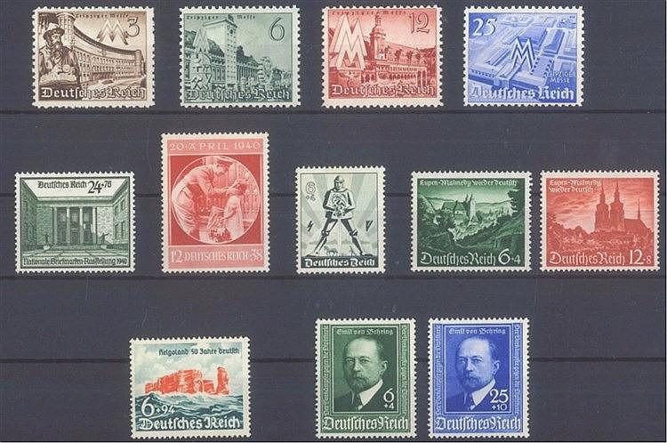 1940 DEUTSCHES REICH, postfrisches Lot mit den Michelnummern