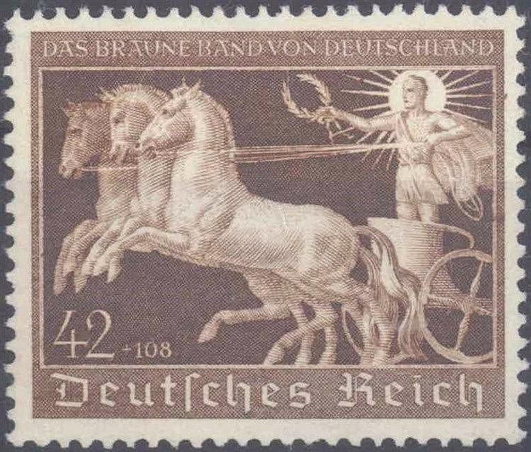 1940 DEUTSCHES REICH, Braunes Band