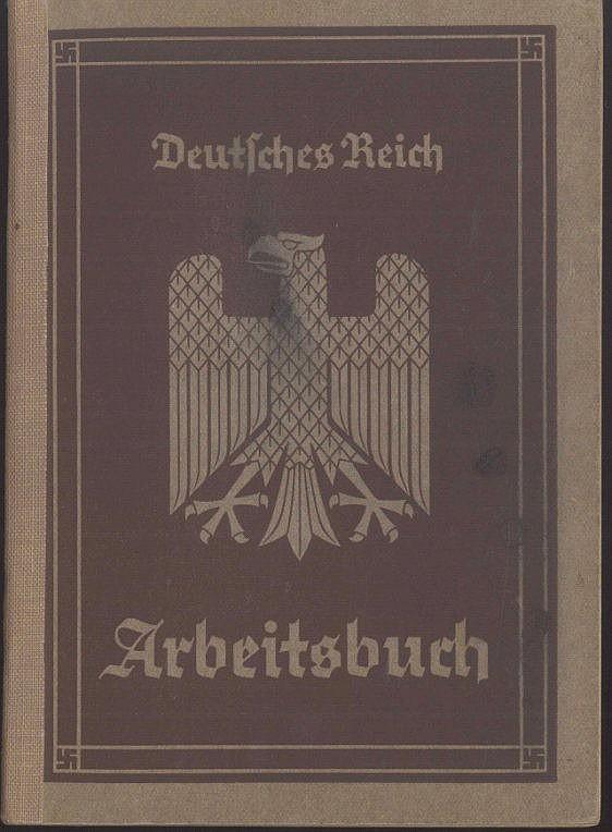 1935 III.REICH - ARBEITSBUCH Nr 183 Ki/2244 Heimat Kreuznach