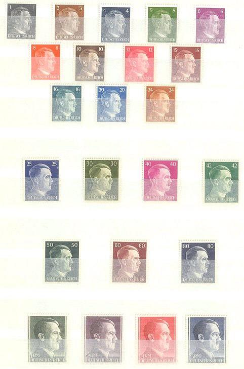 1941 DEUTSCHES REICH, postfrisches Lot mit den Michelnummern