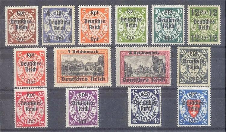 1939 DEUTSCHES REICH, Danzig - Abschiedsserie