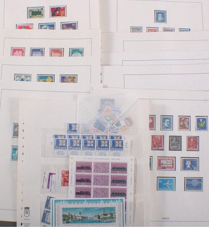SCHWEIZ 1960-1972 mit 190 SCHWEIZERFRANKEN postfrischer NOMI